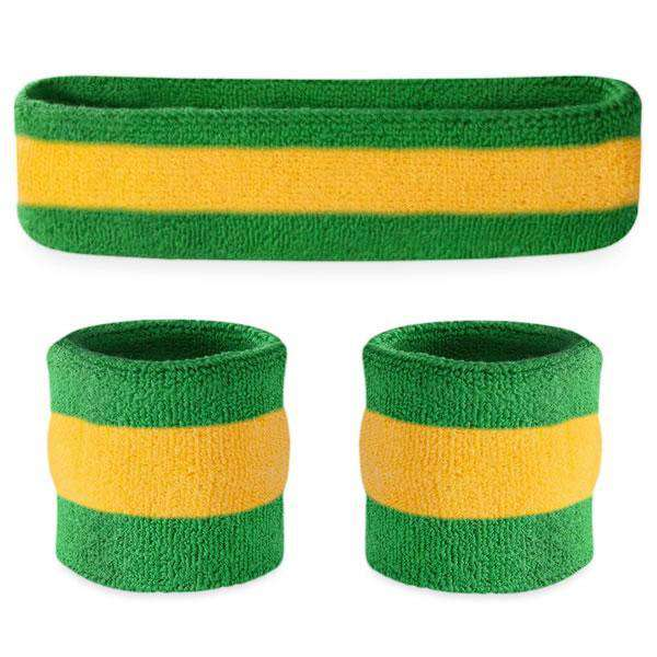 Suddora Striped Sweatband Sets