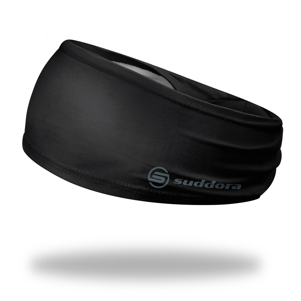 - Suddora Black Wide Tapered Non-Slip Headband