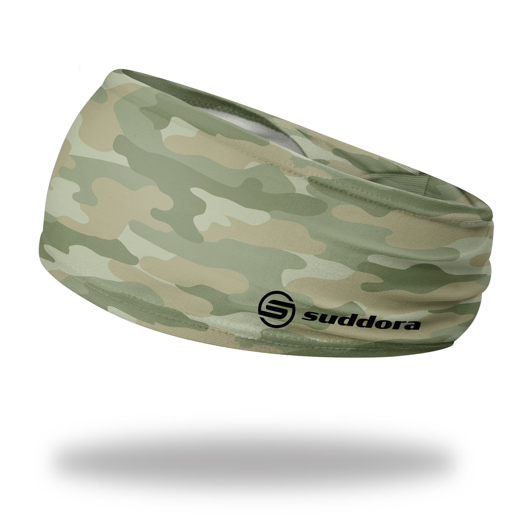 - Suddora Camo Wide Tapered Non-Slip Headband