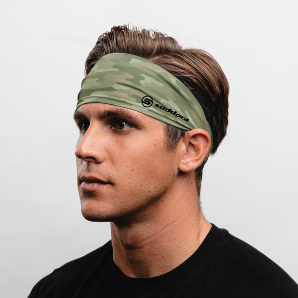 Suddora Camo Wide Tapered Non-Slip Headband
