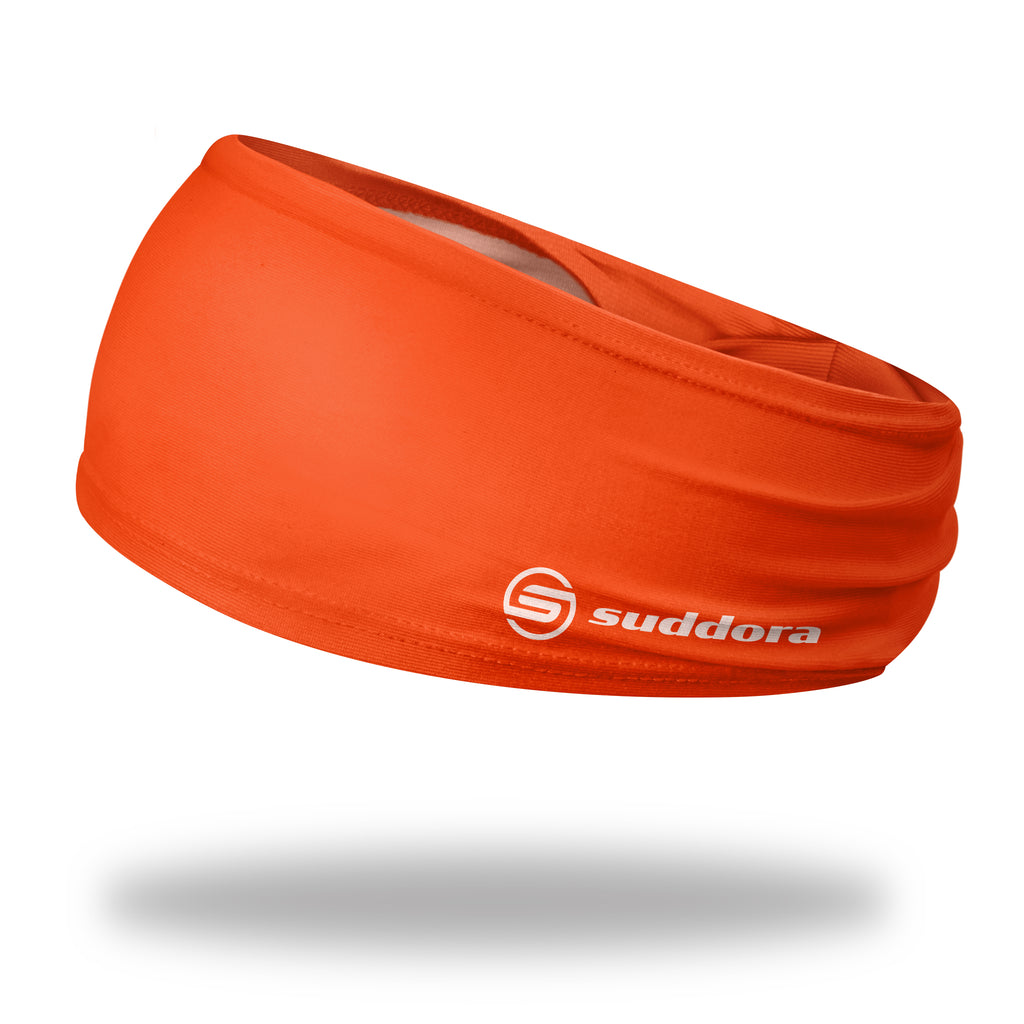- Suddora Orange Wide Tapered Non-Slip Headband