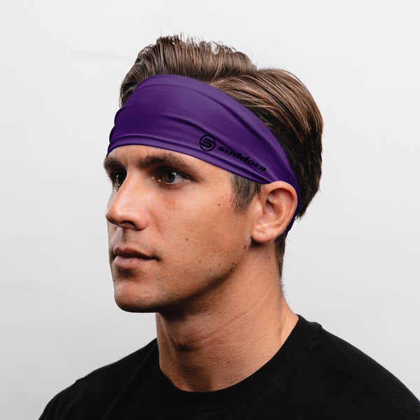 Suddora Purple Wide Tapered Non-Slip Headband