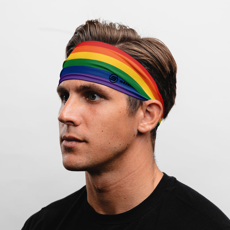 Suddora Rainbow Wide Tapered Non-Slip Headband