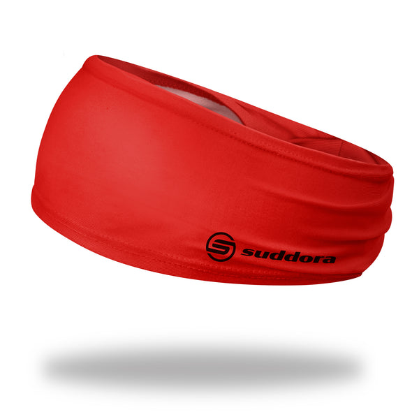 Suddora Red Wide Tapered Non-Slip Headband