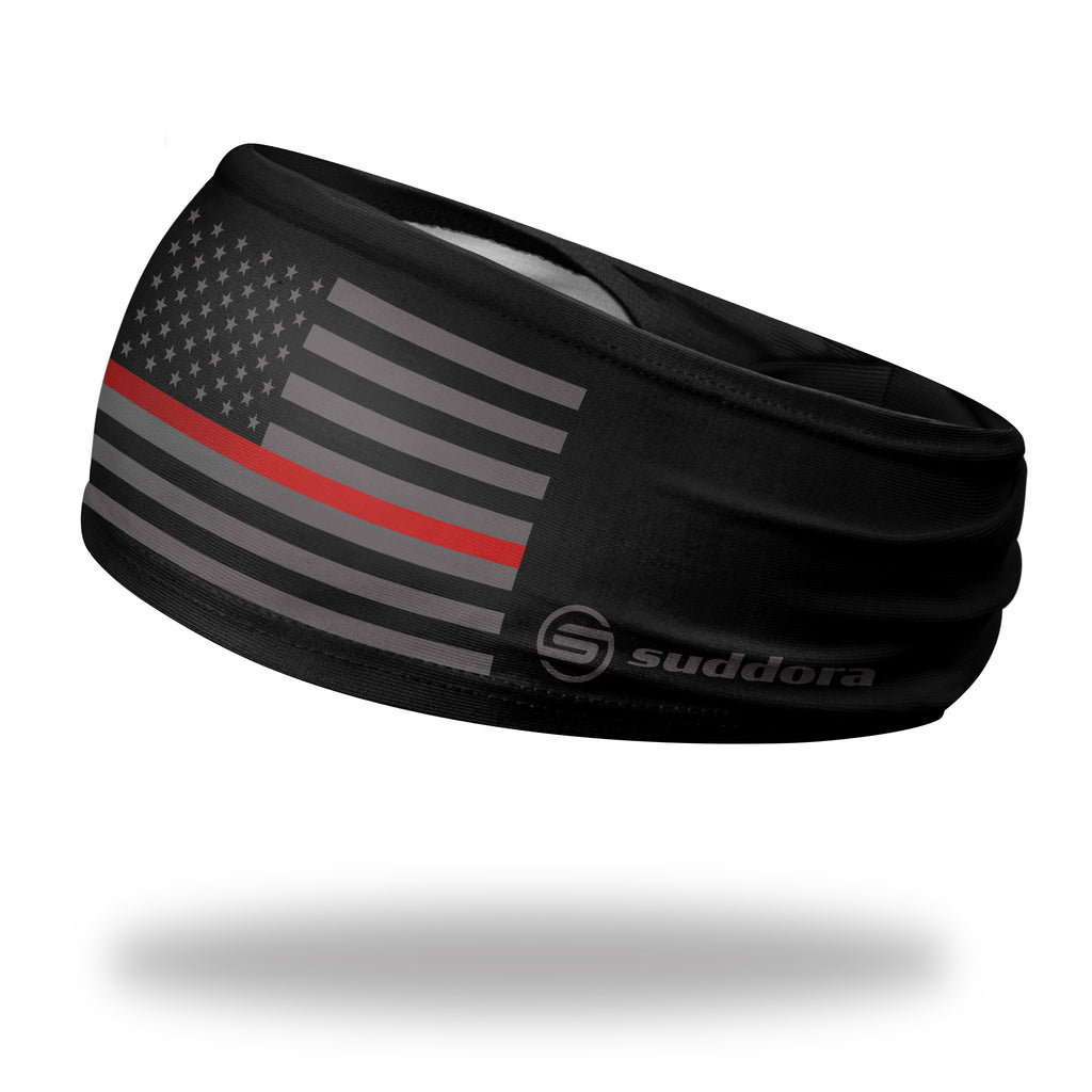 - Thin Red Line Non Slip Tapered Headband