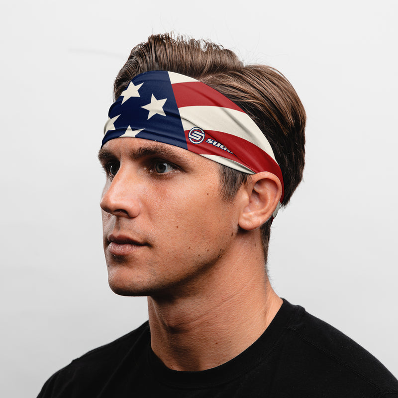 Suddora USA Patriot Wide Tapered Non-Slip Headband