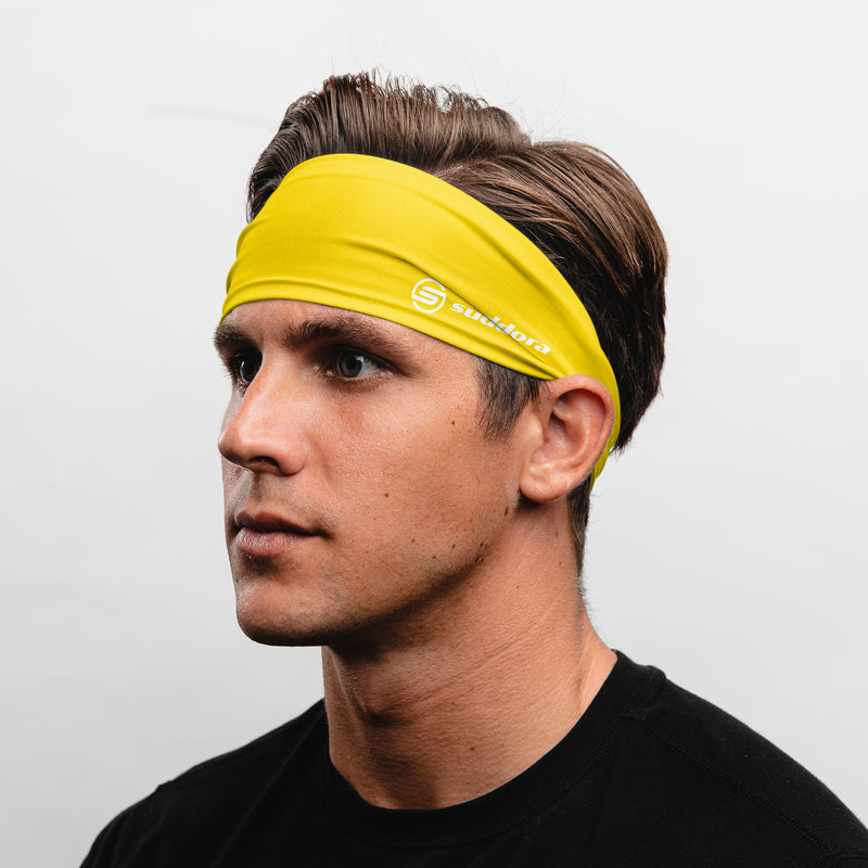 Suddora Yellow Wide Tapered Headband