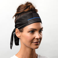 Thin Blue Line Tie Headband