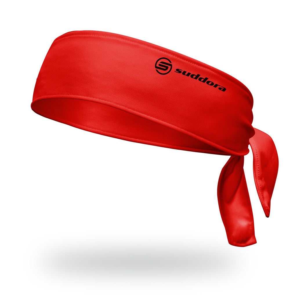 - Suddora Red Tie Headband