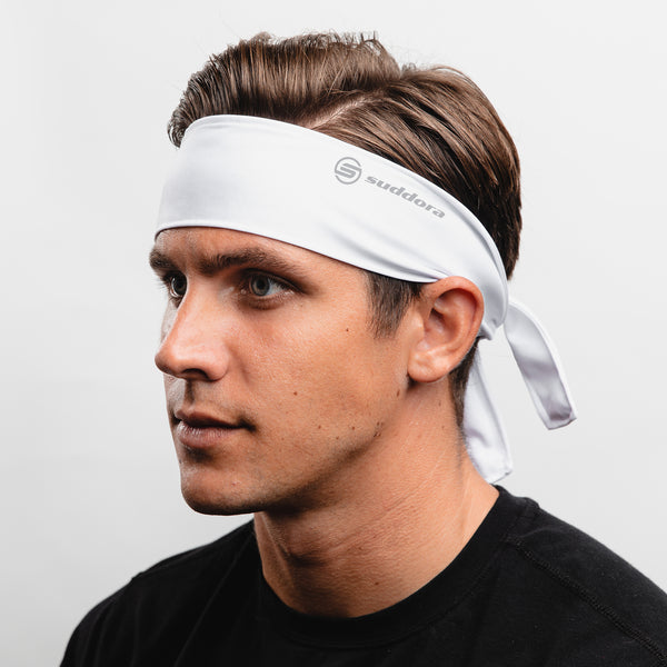 Suddora White Tie Headband