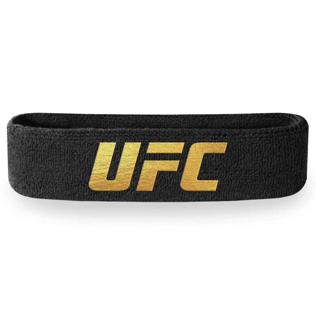 - UFC Black and Gold Headband (Terry Cloth)