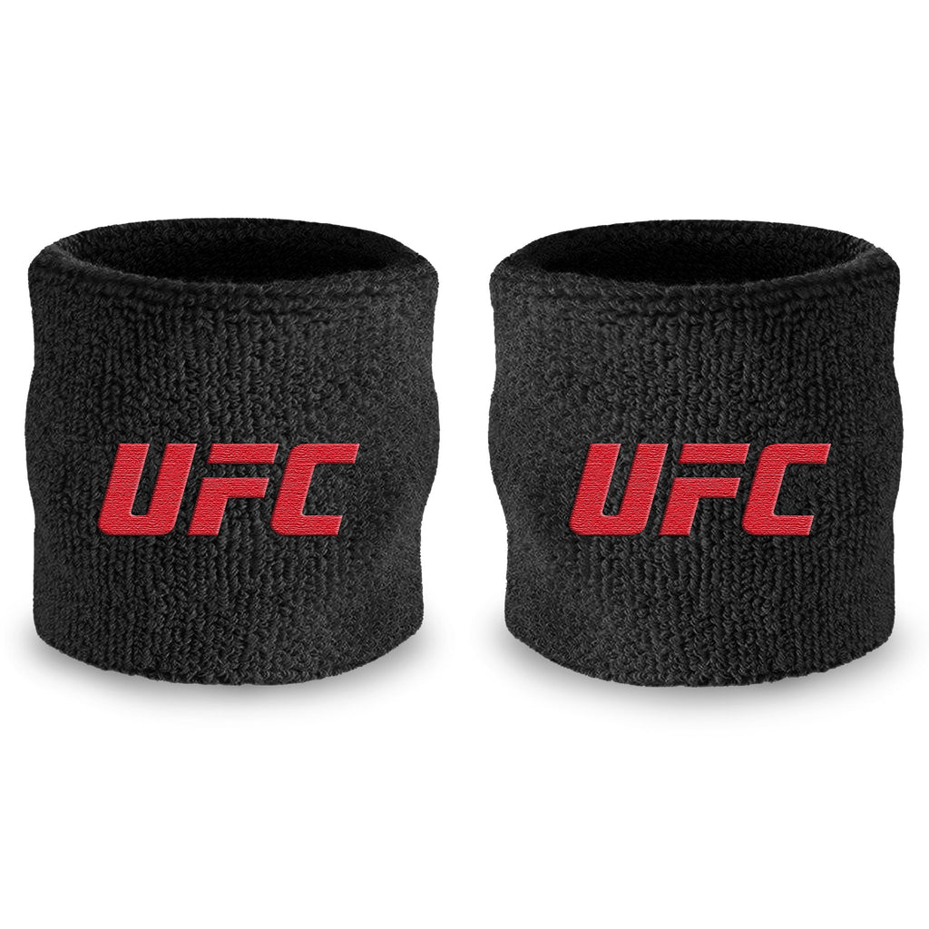 - UFC Black / Red Wristband Pair