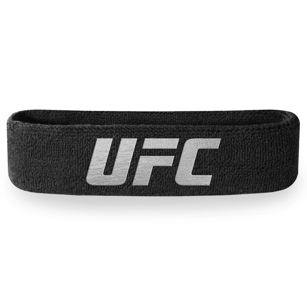 - UFC Black and Silver Headband (Terry Cloth)