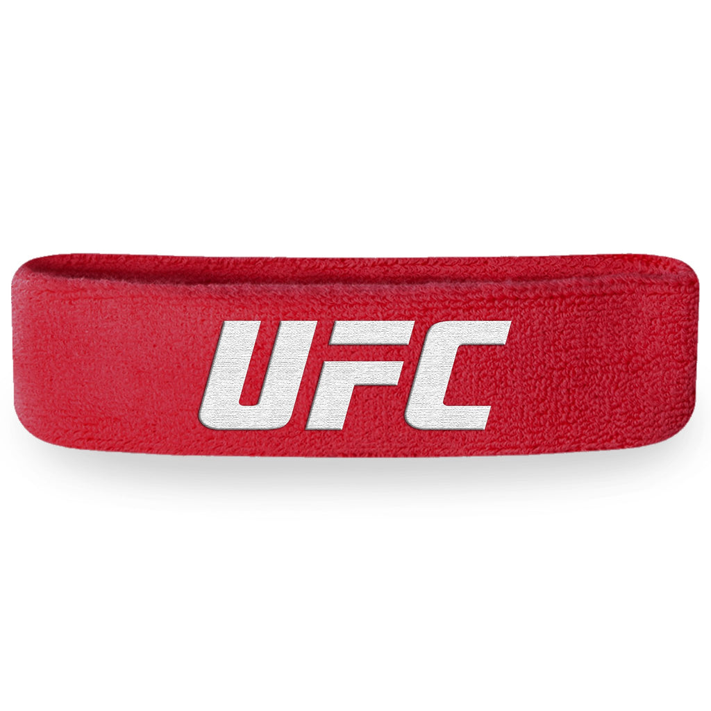- UFC Red / White Headband (Terry Cloth)