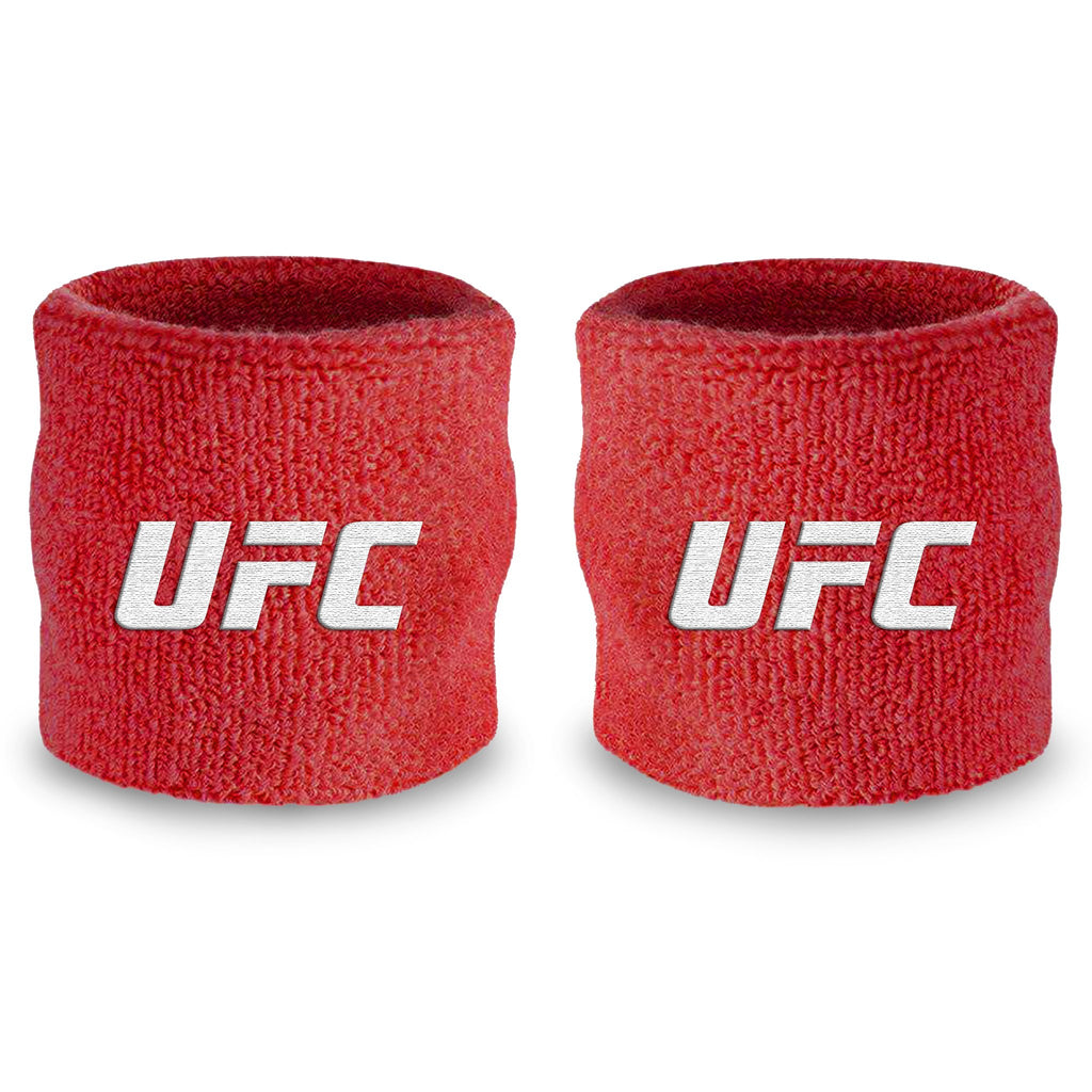 - UFC Red and White Wristband Pair
