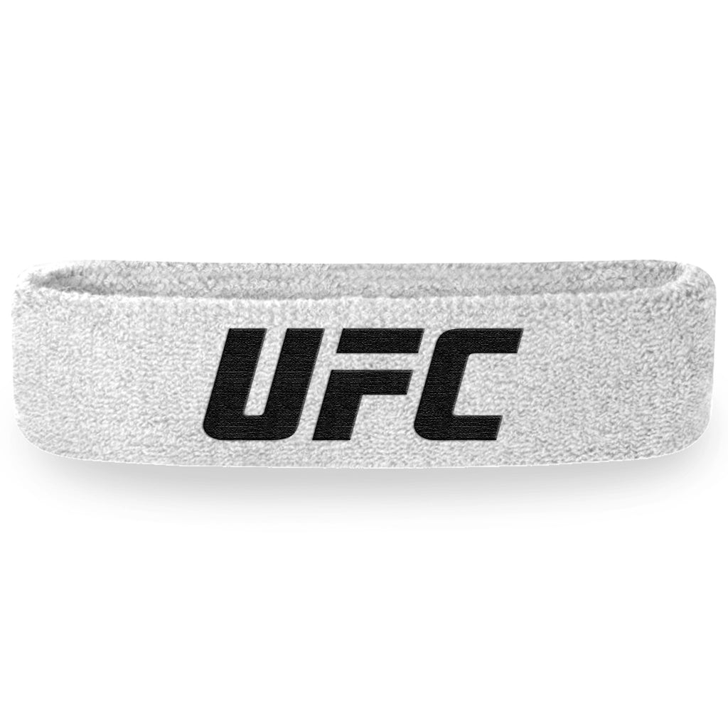- UFC White and Black Headband (Terry Cloth)