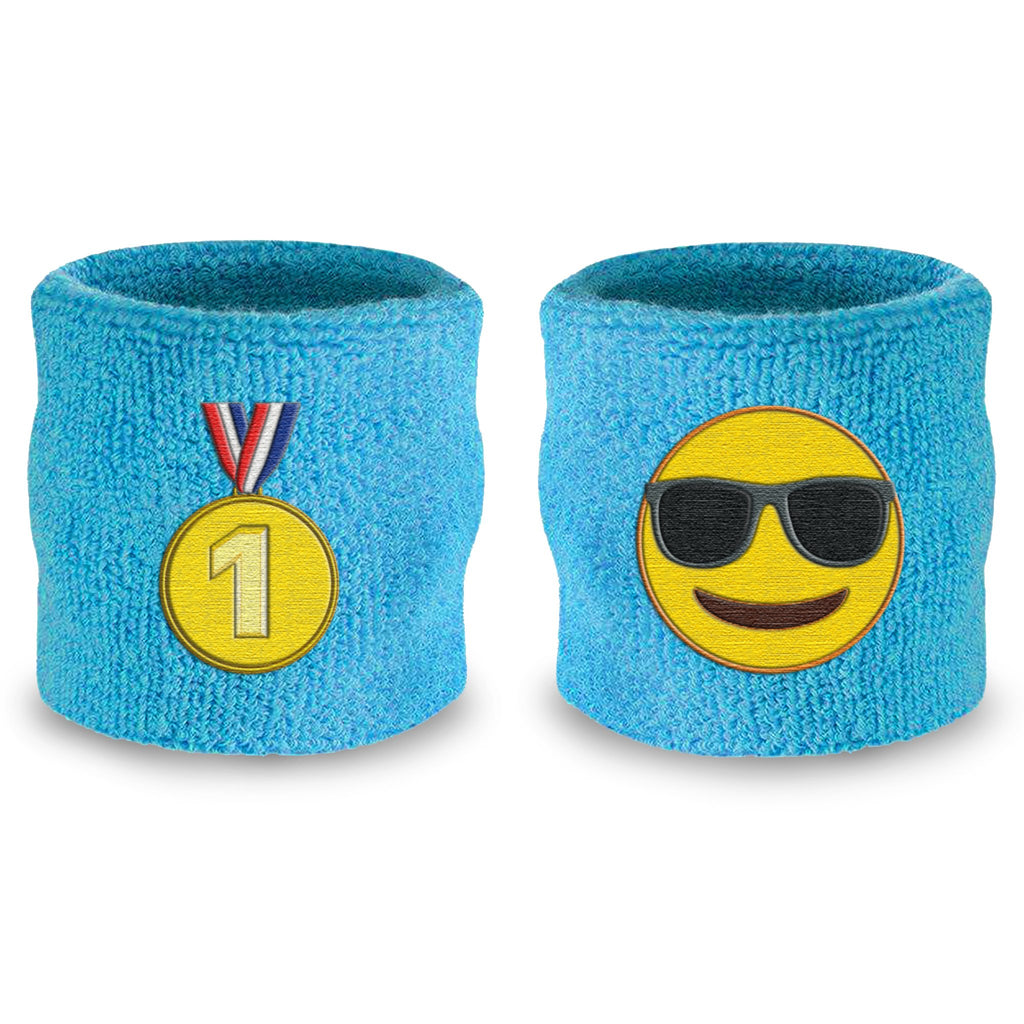 - emoji® Medal Cool (Neon Blue) Wristband Pair