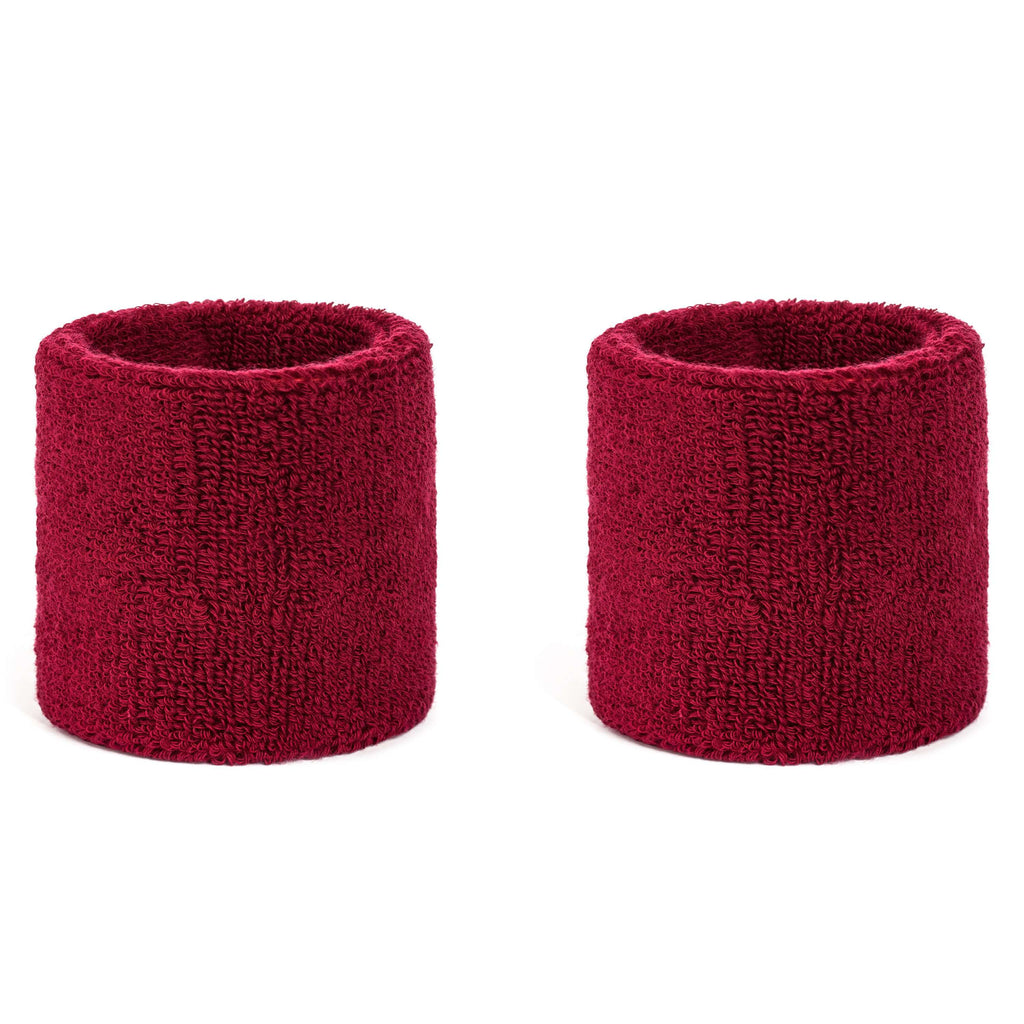 Maroon - Suddora Wristband Pair [3-Pack]
