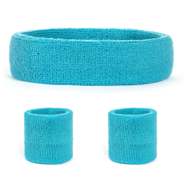 Suddora Sweatband Set (1 Headband & 2 Wristbands)