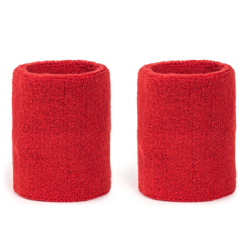 Red - Suddora 4 Inch Armband Pair [3-Pack]