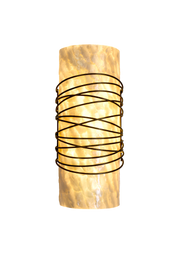 lit wire capiz shell shade