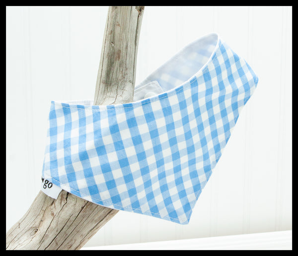 Blue Gingham Pet Bandana