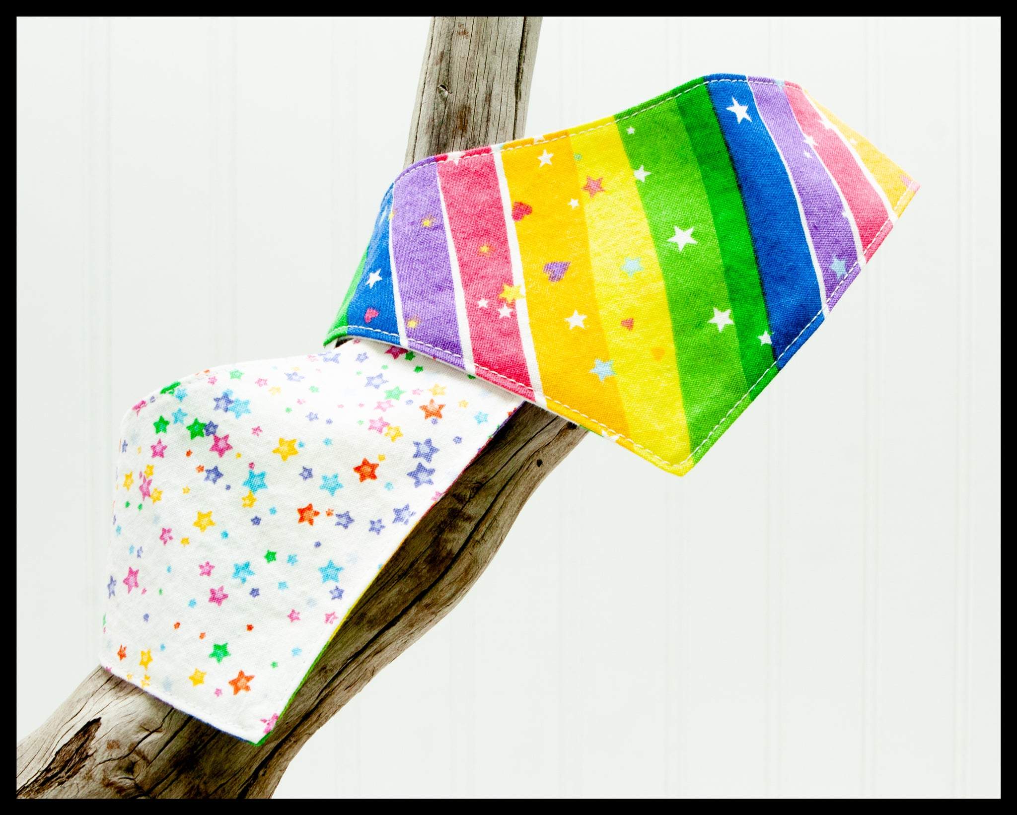 Rainbow Hearts Pet Bandana