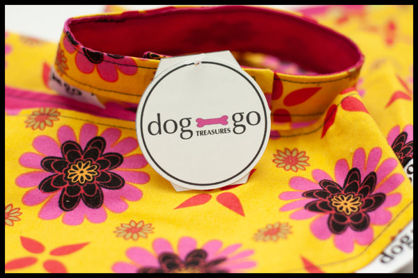 Pink and Yellow Flower Pet Bandana