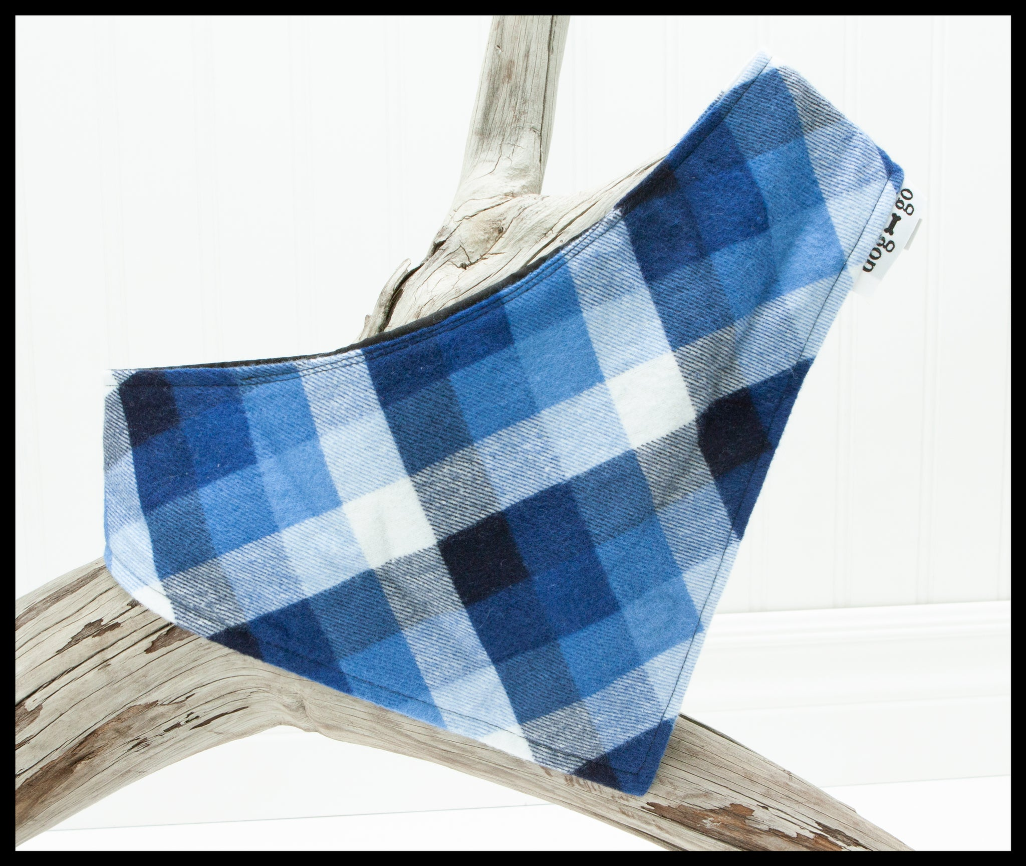 Blue Plaid Pet Bandana