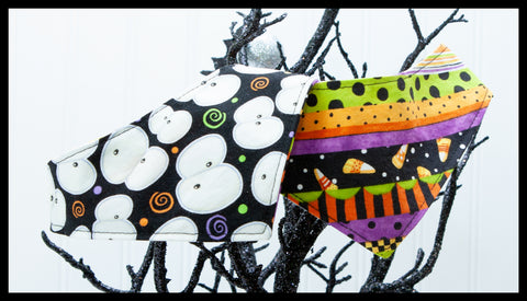 Halloween Stripes & Glow in the Dark Eyes Pet Bandana