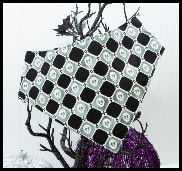 Glow in the Dark Skulls & Spiders with Glow in the Dark Spiderwebs Pet Bandana