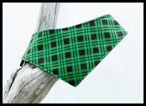 Green Plaid Pet Bandana