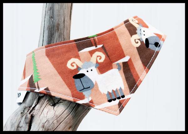 Mountain Goats and Logs Reversible Pet Bandana