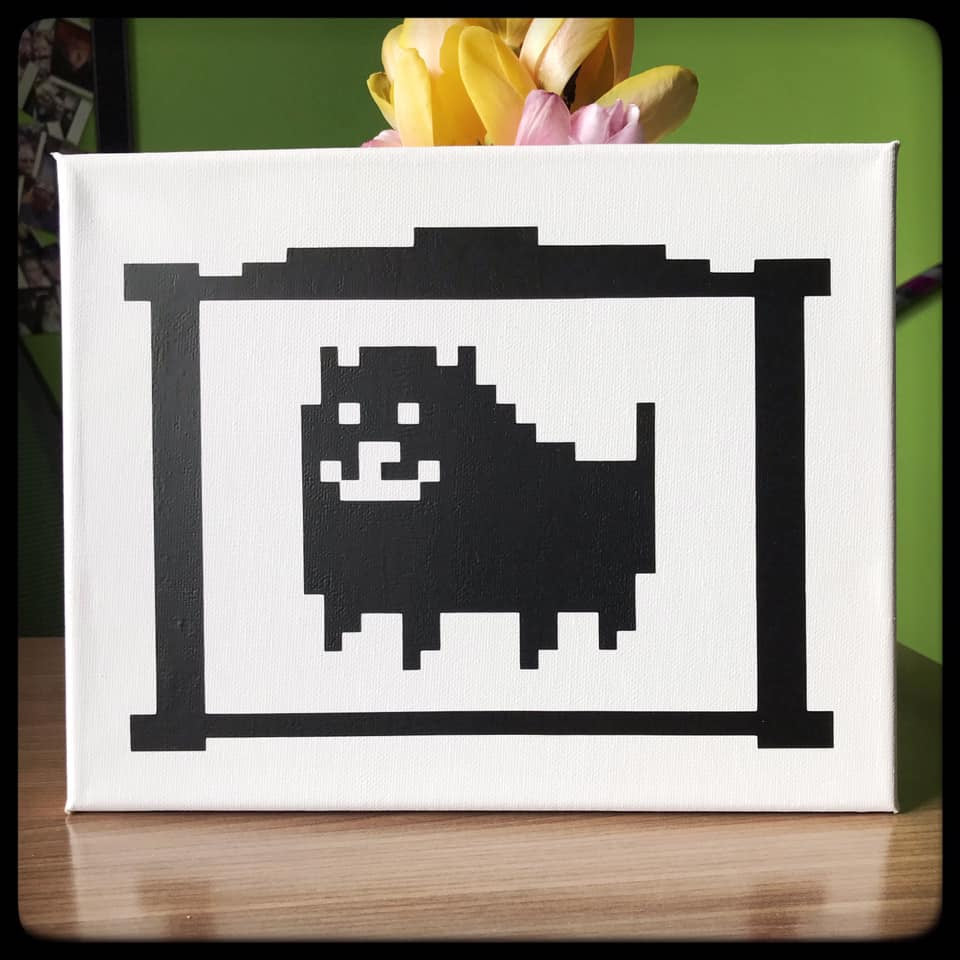 Annoying Dog from Undertale Canvas