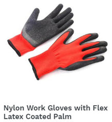 Nylon Work Gloves Flex Latex Coated Palm