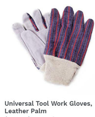 Universal Tool Work Gloves Leather Palm