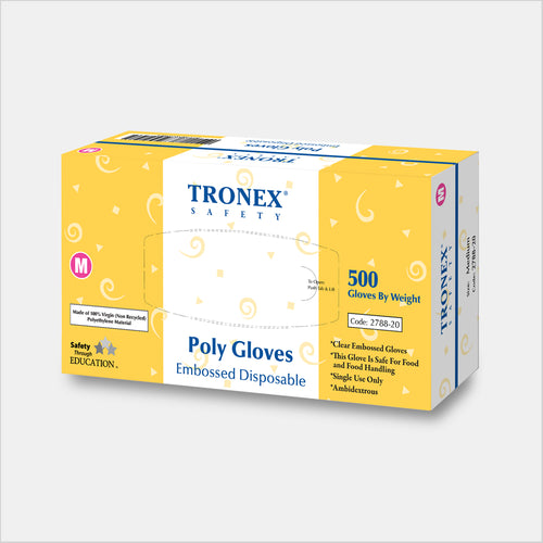 Tronex Embossed Polyethylene PE Disposable Gloves