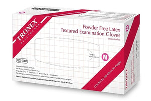 Tronex Latex Exam Gloves, Powder Free, Textured