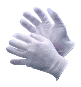 Light Weight White Cotton Inspection & Handling Gloves