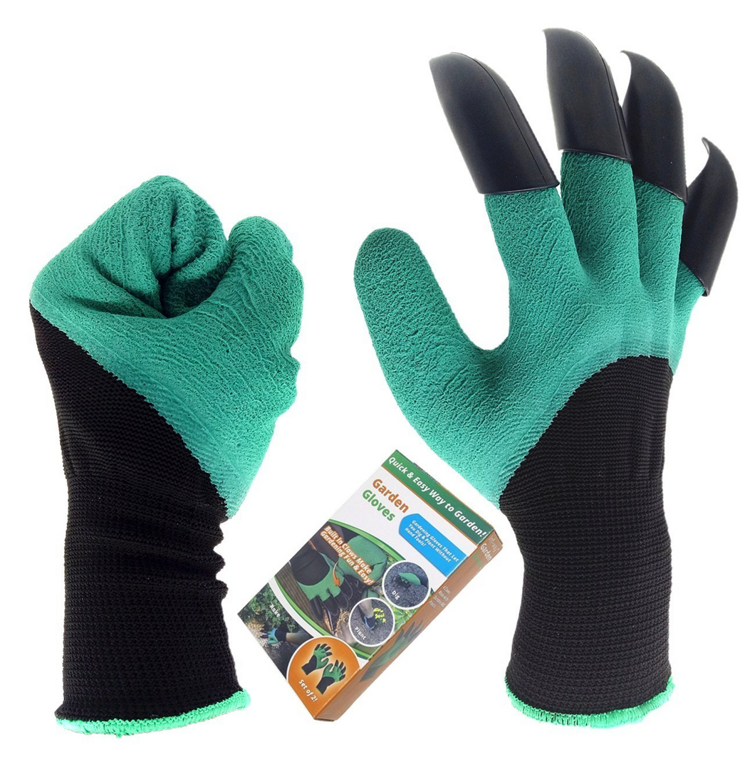 Garden Genie Gloves, Built in Digging Claw