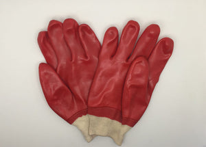 Fully Dipped PVC Single Rubber Coated Work Gloves