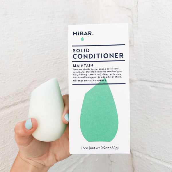 Our light green conditioner bar has an angled tip the help you apply to your hair with ease. All packaging with the conditioner bar is compostable and leaves no impact on the Earth.