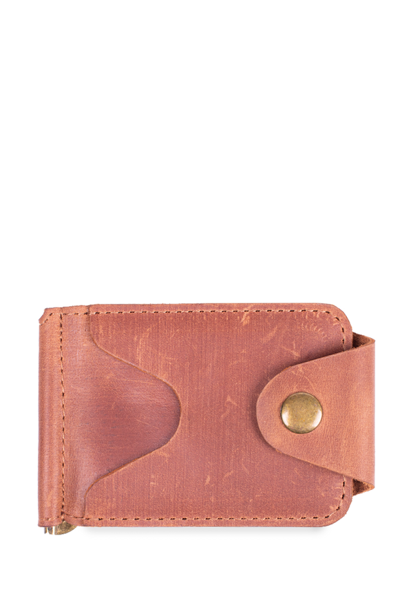 Small Leather Wallet With Money Clip