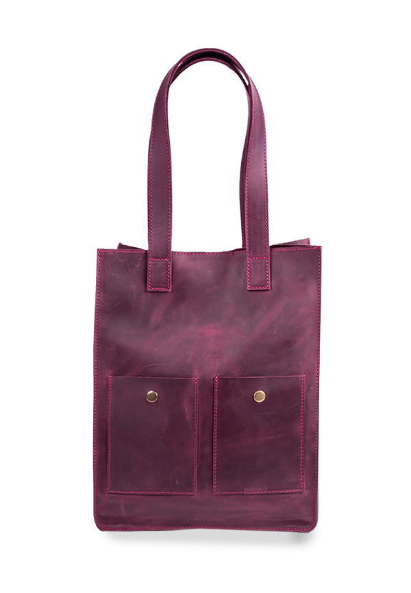 Convenient And Stylish Leather Tote Bag