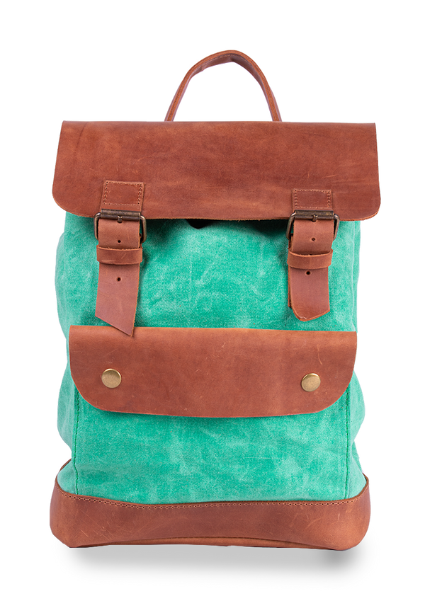 Pretty Backpack Made Of Leather And Canvas