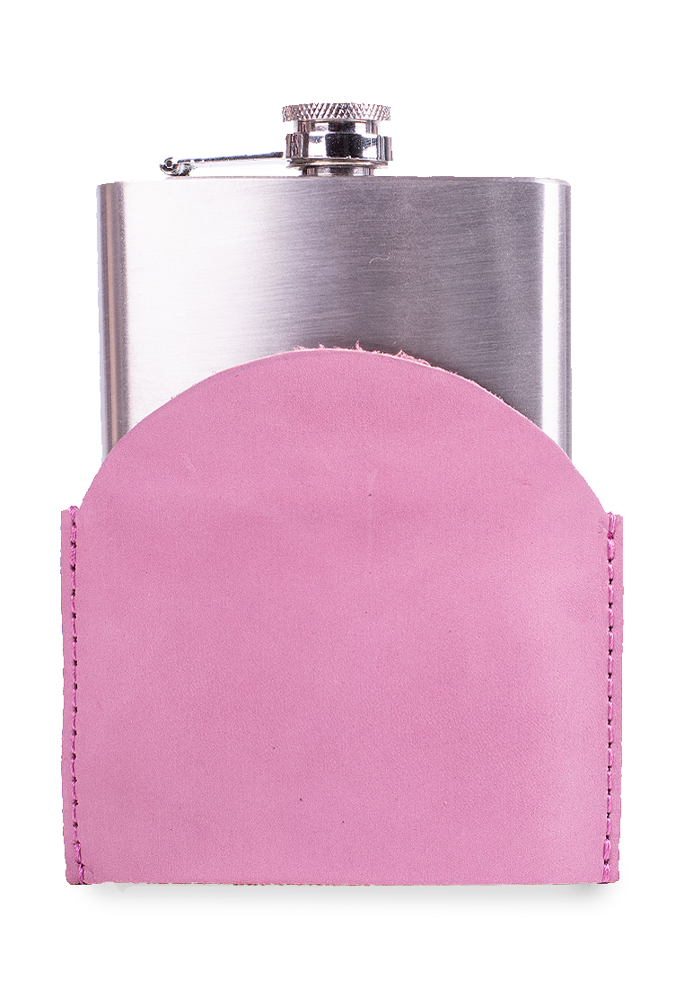 Leather Cover With A Metal Flask