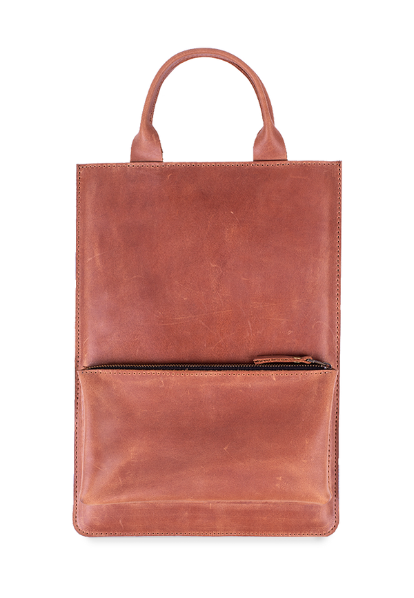Leather Laptop Sleeve With Front Pocket