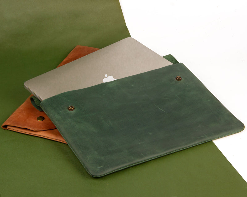Handmade Leather Sleeve For MacBook