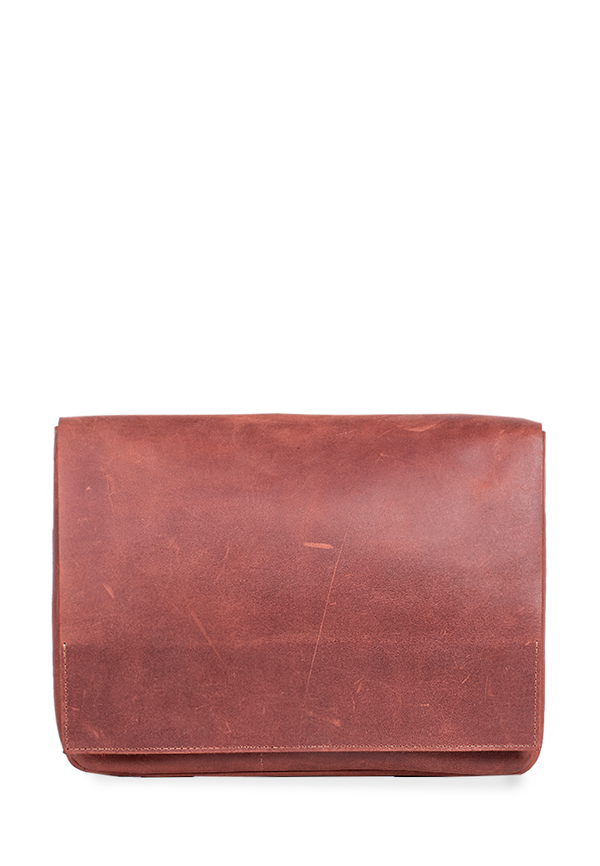 Unisex Messenger Bag Made From Natural Leather