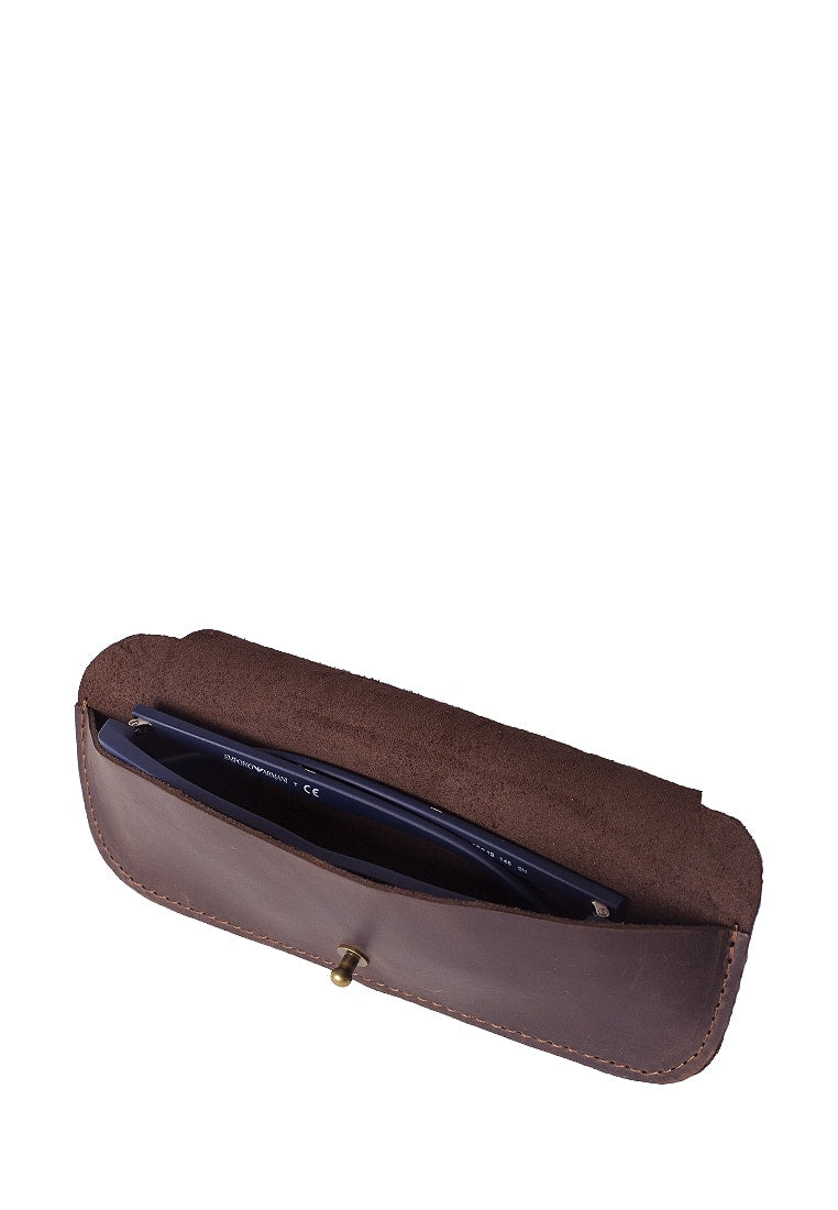 Leather Glasses Case On Button Stud